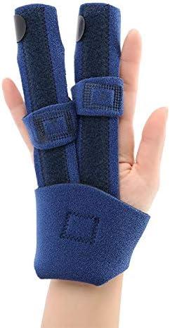 Sonew Einstellbare Fingerschiene Brace Stabilizer Unterstützung verstauchtes Fingerpflege-Werkzeug für Daumen...