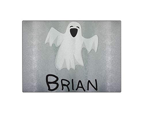 Custom Text PersonalizedFunny Ghost Decoration Halloween Glass Rectangular Chopping Trivet Cutting Board - 11