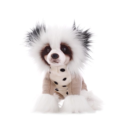 Nat and Jules Chinese Crested Dog Spotted Bright White Children's Plush Stuffed Animal (Chinese Animal)