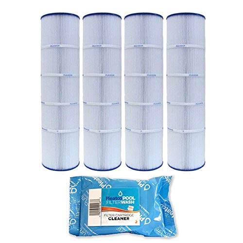 4 Pack Pleatco Cartridge Filter PJAN115-PAK4 Pack of 4 Jandy CL460 A0558000 w/ 1x Filter Wash