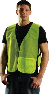 OccuNomix Regular Hi-Viz Yellow OccuLux® Lightweight Polyester And Mesh Non-ANSI Economy Vest With Front Hook And Loop Closure, Side Elastic Straps And 1 Pocket ()