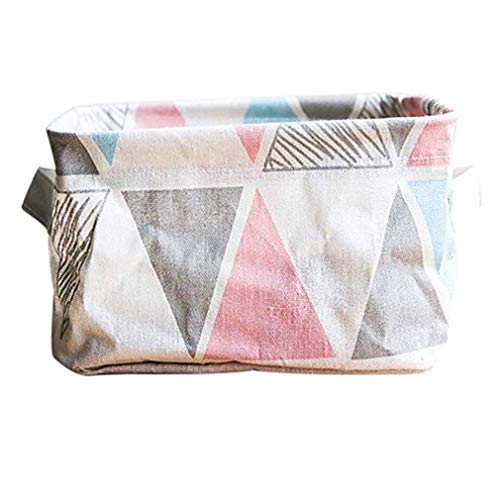 Windoson Foldable Colors Storage Bin Closet Toy Box Container Organizer Fabric Basket Deal Storage Basket Box (Pink)