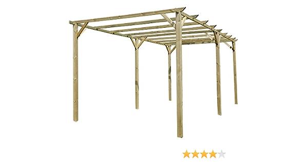 verdelook cenador de madera doble Pergola Colcha Decoración Jardín Patio Exterior 6 x 3 m