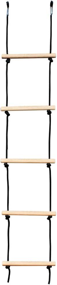 /échelle de Corde descalade et Filet Anneaux Ninja ETE ETMATE Parcours dobstacles Ninja Warrior pour Enfants /équipement dentra/înement 50FTSlackline Kit-Ninja Warrior pour Adulte