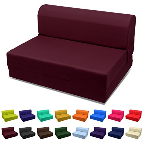 - Magshion Sleeper Chair Folding Foam Bed Choose Color & Sized Single,twin or Full (Single (5x23x70), Burgundy)