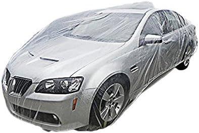 Amazon Com Signstek Disposable Plastic Car Cover Dust Cover Rain
