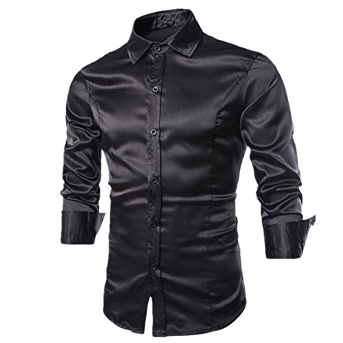 David Salc Man Shirt Male Social For Weight Imported-china Checker Blouse Brand Clothing BlackUSA L