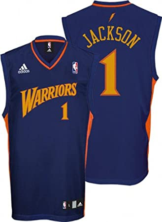 100% authentic 86f4a 08b95 Amazon.com : Stephen Jackson Jersey: adidas Navy Replica #1 ...