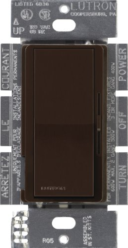 Lutron DVLV-603P-BR Diva 600-Watt 3-Way Magnetic Low-Voltage Dimmer, Brown