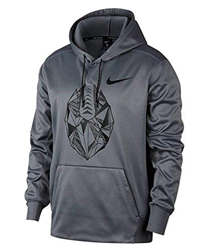 - Nike Therma Fit Men's Pullover Football Hoodie Sweatshirt (Grey, X-Large)