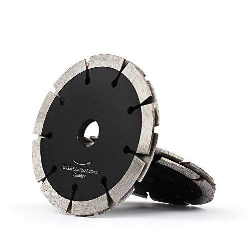 CHUNSHENN 切断砥石 切断工具 カッティングソウ1PCS 125ミリメートルダイヤモンドソーブレードデュアルタックポイントカッティングディスクドライウェットサンドイッチ円形ホイールコンクリートの床レンガの壁チェイサー、A1pc 切削ディスク