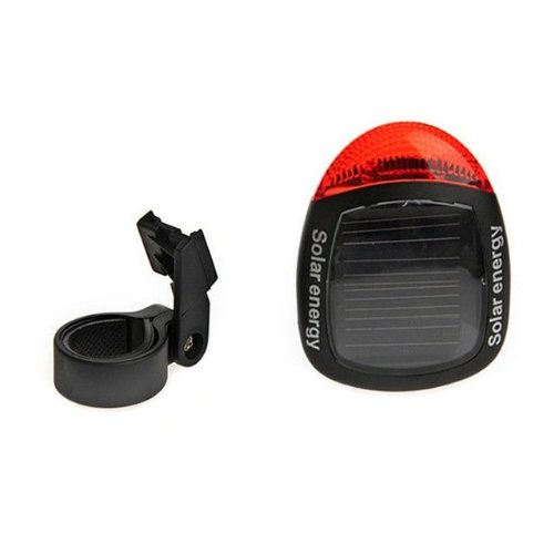 Goliton Cycling Camping 2 LED Bicycle Solar Power Rear Light Bulb rear light rear light - Black