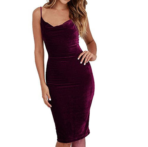 Womens Sleeveless Bodycon Cocktail Evening