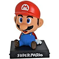 INNOVATIVE PRODUCTS Mario Bobble Head with Stand and Mobile Holder for Car Dashboard, Desk or Table Top with Box