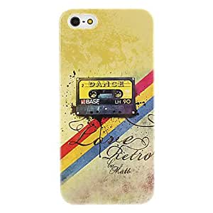 JOERetro Style Tape Pattern Hard Case for iPhone 5/5S