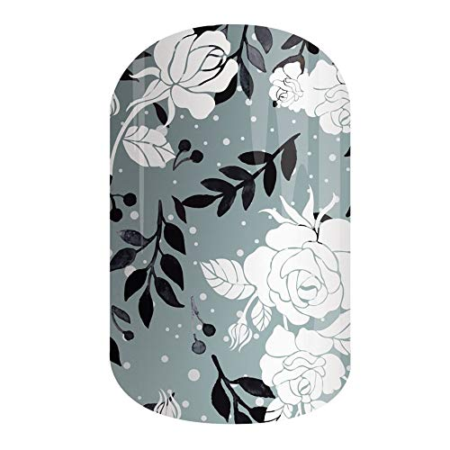 ICY ROSE | Jamberry Nail Wraps | Fun & Trendy Nail Art Stickers | Perfect Gift for DIY Easy Nail Art