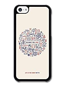 MMZ DIY PHONE CASEAMAF ? Accessories Do What You Love Life Motivation Quote case for iphone 5/5s