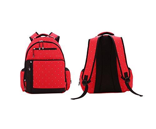 Global- Rojo, Oxford tela impermeable bolso de la madre paquete de la momia Negro Multifunción Las mujeres embarazadas de gran capacidad Saliendo mochila ( Color : Rojo ) Rojo