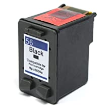SaveOnMany ® High Yield HP 56 (HP56 HP#56 NO.56) Black Remanufactured BK Ink Cartridge (C6656AN) ~ 450 Pages Yield