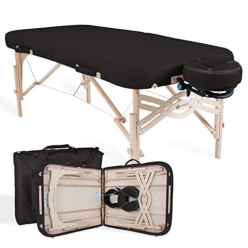 Lite Massage Table - EARTHLITE Premium Portable Massage Table Package Spirit - Spa-Level Comfort, Deluxe Cushioning incl. Flex-Rest Face Cradle & Strata Face Pillow, Carry Case (30/32