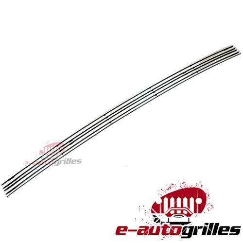 EAG 06-08 Dodge Ram 1500/06-09 Ram 2500/3500 Bumper Billet Grille Aluminum Polished 3D Horizontal Overlay Tow Hook Covered 1PC