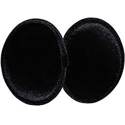 Ear Mitts Black Velvet Bandless Ear Muffs, Black Regular