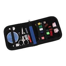 25pcs Travel Sewing Kit Needles Thread Scissors Set with Blue Zipper Bag