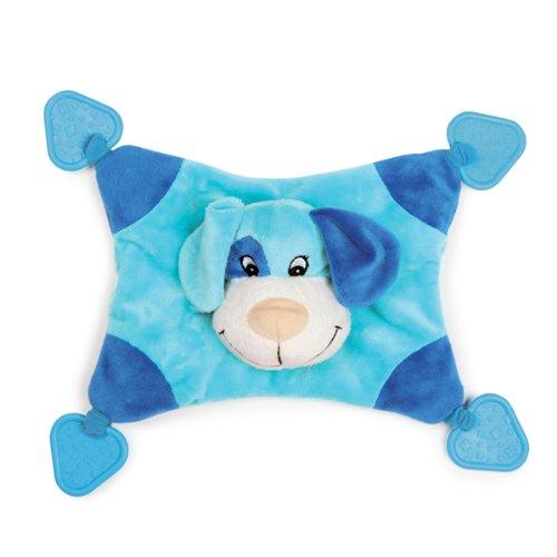Zanies Plush/Rubber Puppy Snuggler Dog Toy, 13-1/2-Inch, Blue, My Pet Supplies