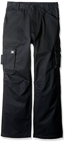 Caterpillar Men's Flame Resistant Cargo Pants (Regular and Big & Tall Sizes), Black, 32W x 32L