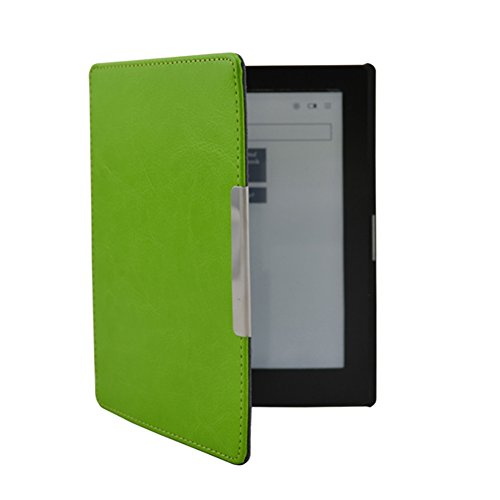 Kepuch Clamshell Holster Magnetic Clasp Case Cover With Wake / Sleep Function For Kobo Aura 6 (Not for Kobo Aura HD) ,Green