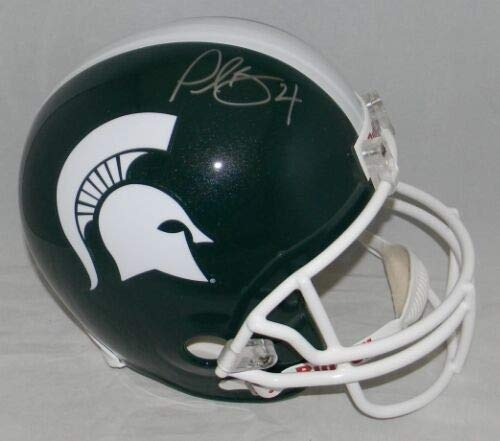 Plaxico Burress Autographed Signed Memorabilia Michigan State Spartans Full Size Helmet Coa - Certified Authentic