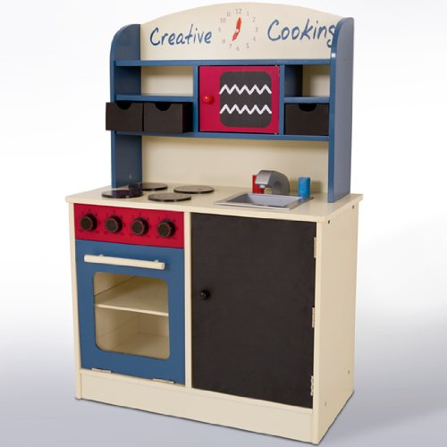 Infantastic – Cucina Giocattolo di Legno, ca. 60 x 30 x 90 cm