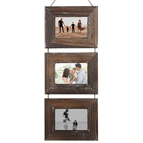 CALIFORNIA CADE ELECTRONIC Picture Frames-Photo Album-Photo Frame-Rustic 4x6 Picture Frame-3 Sets (4 by 6-Inch, Nature Brown)