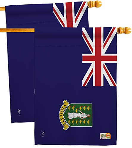 Americana Home & Garden HP140036-BOAE British Virgin Islands Flags of The World Nationality Impressions Decorative Vertical 28