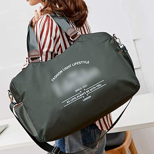 大容量モバイルトラベルバッグ女性の軽量防水荷物バッグは、アンチプル耐摩耗ブラック、グリーン HMMSP (Color : Green)