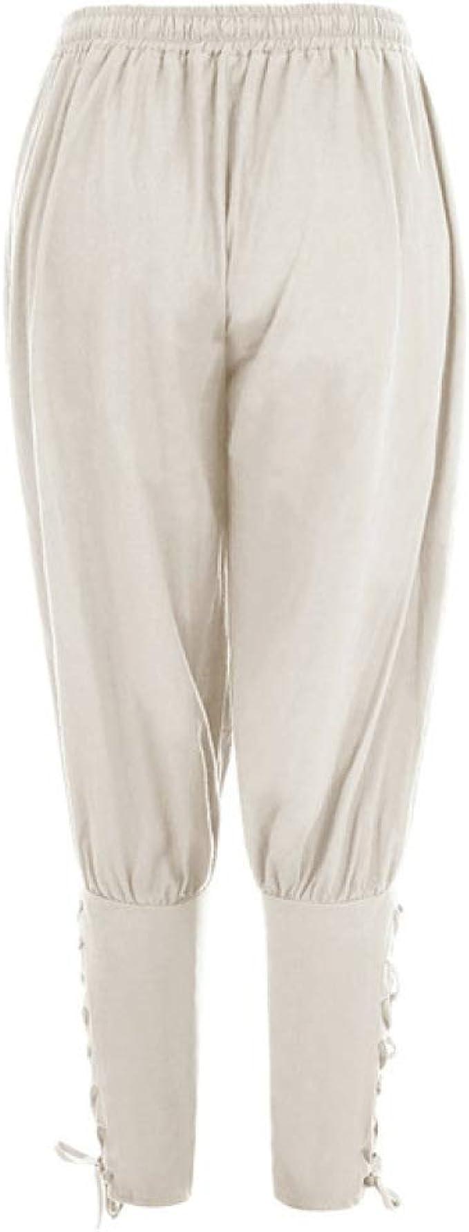 N A Pantalones De Lapiz Sueltos Casuales Para Hombre Edad Media Traje De Jinete Pirata Traje De Pierna Vendaje Traje Suelto Para Adulto Amazon Es Ropa Y Accesorios
