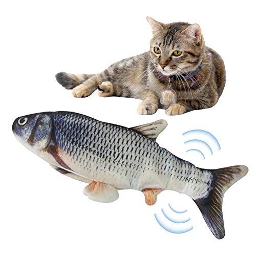 Katzenspielzeug Fisch Elektrisch Beweglich 30cm Jump Automatische Katzenminze Fisch Katze Interaktive Spielzeug…