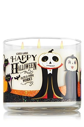 PHERAL FIT Bath & Body Works 3-Wick Candle Happy Halloween 2016- Sweet Cinnamon Pumpkin -