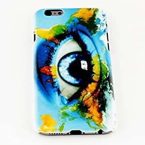 LZX Fashion Punk Eye World Map Pattern TPU Soft Cover for iPhone 6