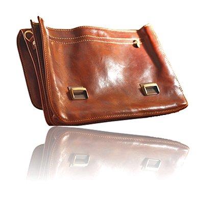 Timmari-''Myrtle'' Italian Leather Messenger Bag