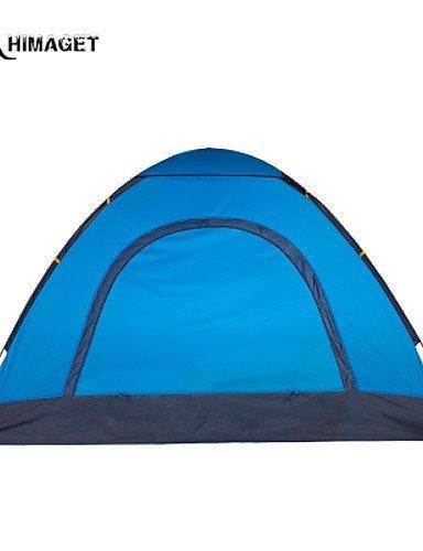 FUDA tent Zelt ( Hellgr¨¹n / Hellblau , 3-4 Personen ) -Feuchtigkeitsdurchl?ssigkeit / Feuchtigkeitsundurchl?ssig / Wasserdicht / Atmungsaktivit?t /