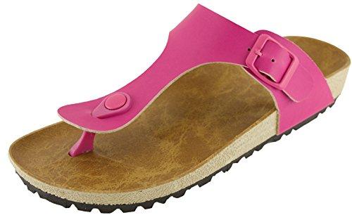 Cambridge Select Women's Thong Slip on Slide Platform Sandal