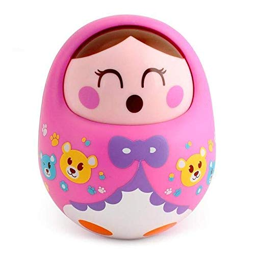Toyshine Push and Shake Wobbling Bell Sounds Roly Poly Tumbler Doll (Multicolour)
