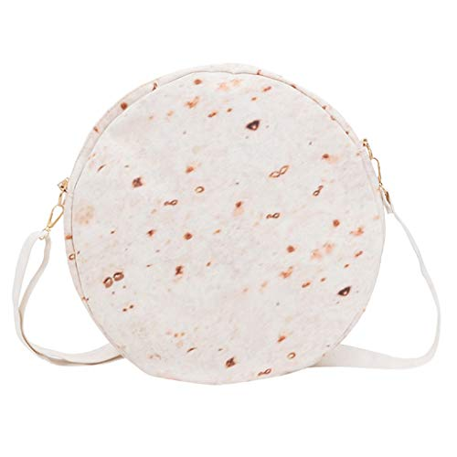 HunYUN Women Burritos Zipper Messenger Bag Shoulder Bag Fashion Round Pack Suitable for All Occasions -