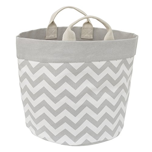 - Little Love by NoJo Chevron Reversible Storage Tote with Handles, Gray/White