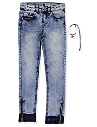 Diesel Girls' Super Slim Jeans with Bracelet