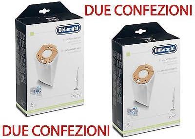 DeLonghi - 10 Bolsas de microfibra para aspiradoras Colombina Class 2.0 XLF y XLD: Amazon.es: Hogar
