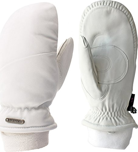 Auclair Women's Las Lenas Waterproof Winter Mittens: Medium, White