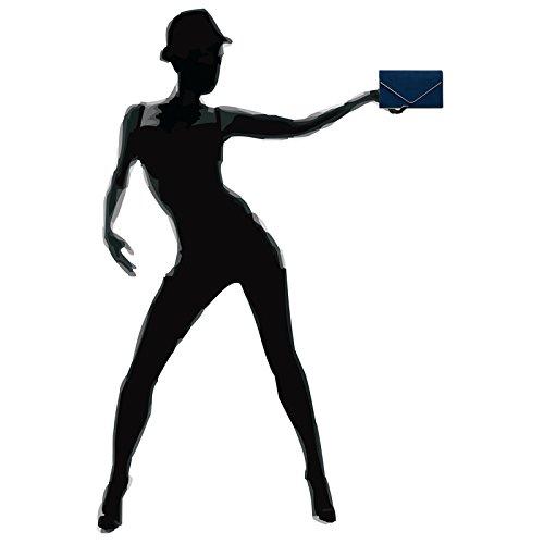 CASPAR Fashion - Cartera de mano para mujer azul oscuro