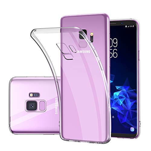 Samsung Galaxy S9 Case,[Wireless Charging Support] Ultra Slim Soft TPU Crystal Clear Case for Samsung Galaxy S9